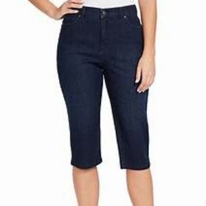 GITANO cropped capri  denim blue jeans size 12